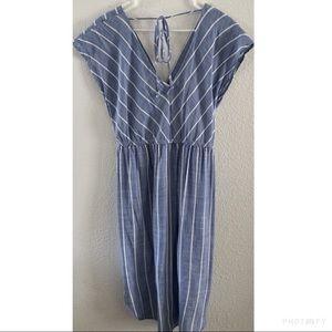 Universal Thread Dresses - NWT Universal Threads Striped Chambray Dress